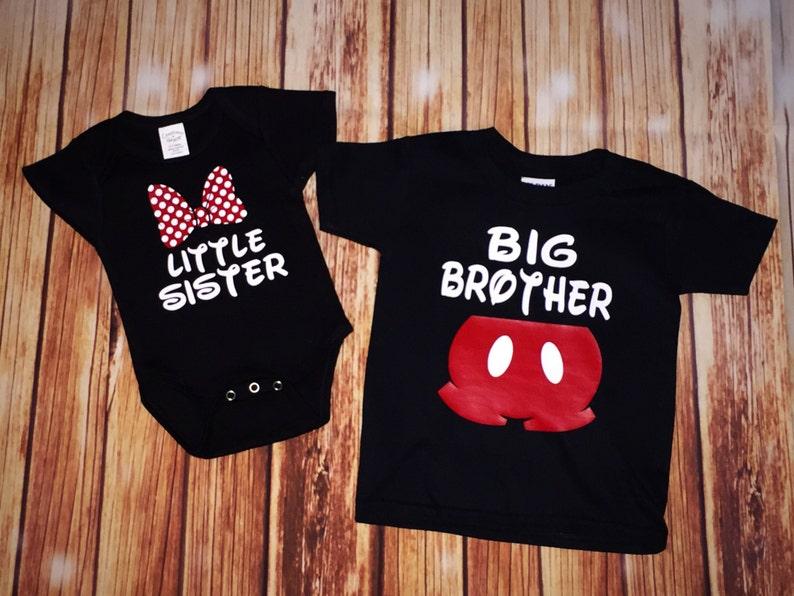 ec95e6f80fb6 Disney Family Matching Shirts Big Brother Little Sister   Etsy