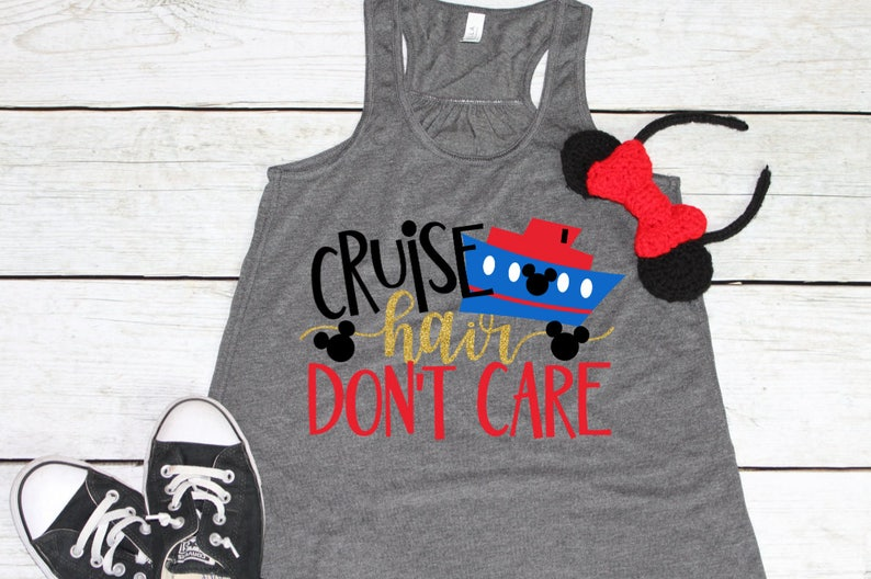 Disney Cruise Shirt | Cruise Hair Don't Care | Disney Shirts | Women's  Disney Shirt | Disney Vacation Shirt | Girl's Disney | Disney Tank