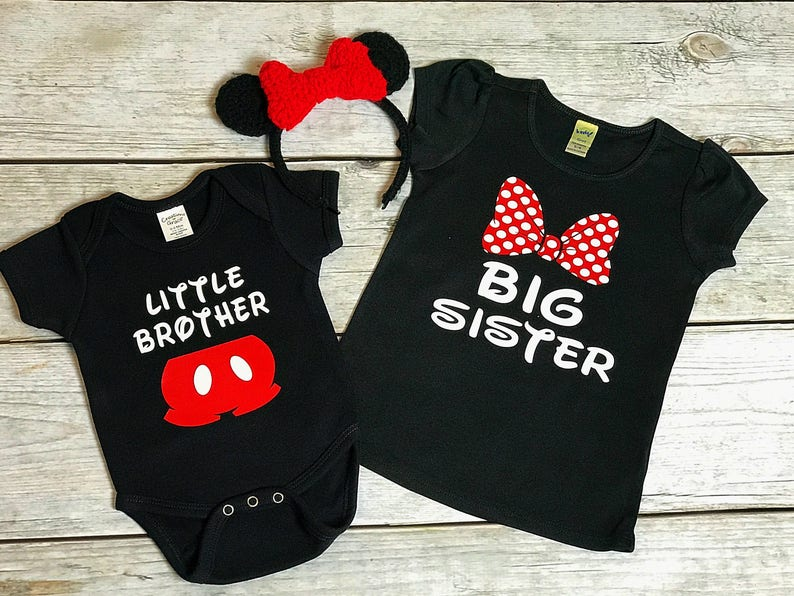 e68636982 Disney Family Matching Shirts Big Brother Little Sister | Etsy