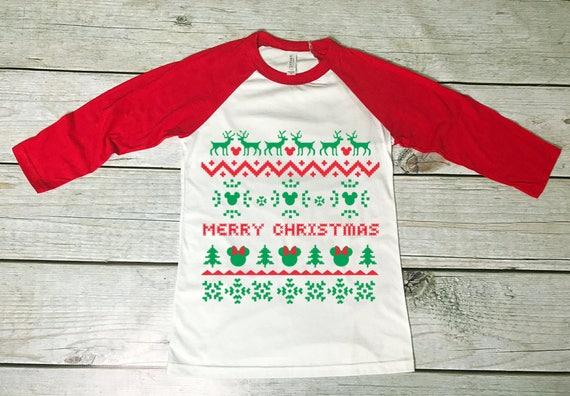 Disney Ugly Christmas Sweater.Ugly Christmas Sweater Design Disney Christmas Shirt Mickey Ugly Christmas Sweater Raglan Mickey Christmas Minnie Christmas