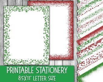christmas stationery etsy