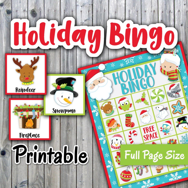 image regarding Holiday Bingo Printable referred to as Xmas Bingo Printable PDF - Trip Bingo - 30 alternate Playing cards - Xmas Memory Sport - Get together Activity Printable - Immediate Obtain