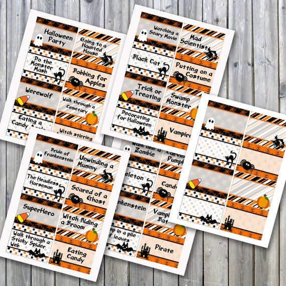 image regarding Halloween Charades Printable named Halloween Charades Get together Match Printable - PDF Printable - 32 Option Charade Prompts upon Attractive Playing cards - Instantaneous Obtain