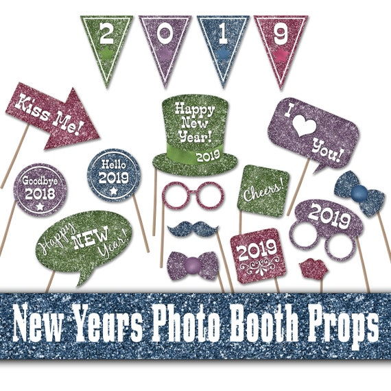 2019 New Years Printable Photo Booth Props