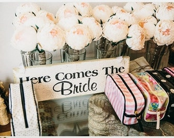 Bridesmaids bouquet peony paper flowers peony