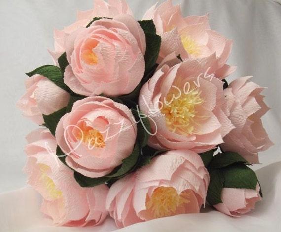 Bridal bouquet wedding bouquet lotus paper flower lotus etsy image 0 mightylinksfo