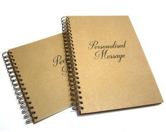Personalised Sketchbook, A3,A4,A5, Portrait/Landscape, Acid Free Cartridge Paper, 170GSM, Bronze Bind