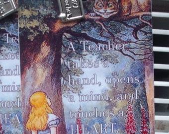 Handmade Bookmarks Alice inspired for the teacher.........