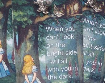 Alice inspired Handmade Bookmark