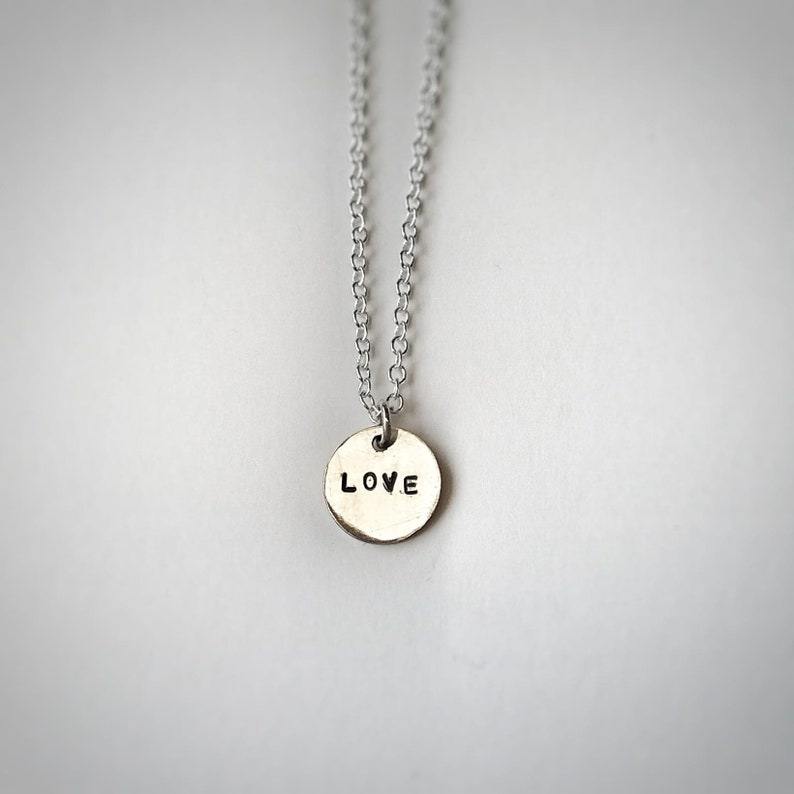 Love Pendant  Personalise  Initials  Name  Daughter  Girlfriend Gift  Sister Gift  Necklace  Recycled Silver