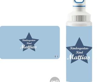 Edelstahl Trinkflasche mit Namen, personalisierbar