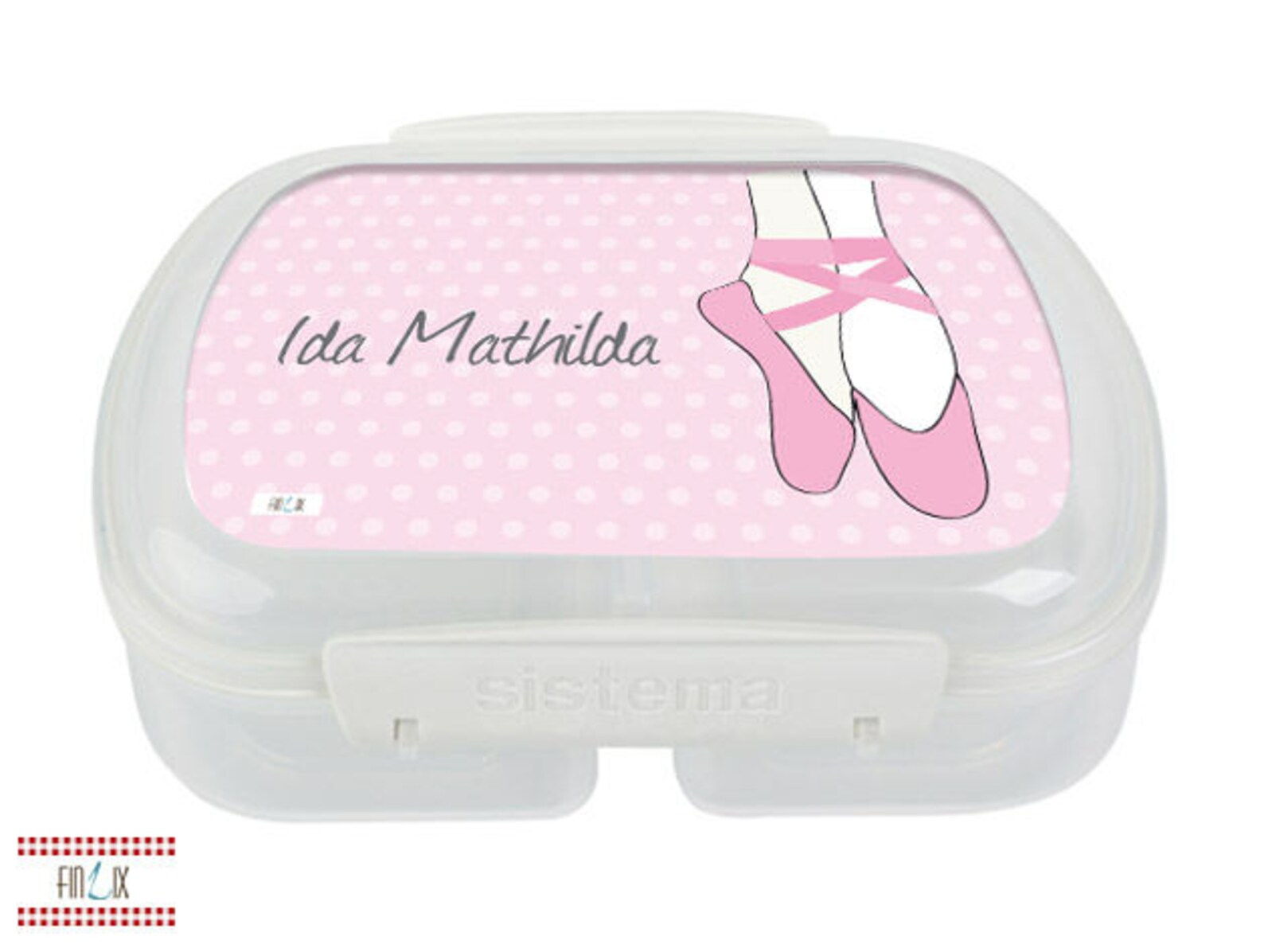 lunch box with name - ballet