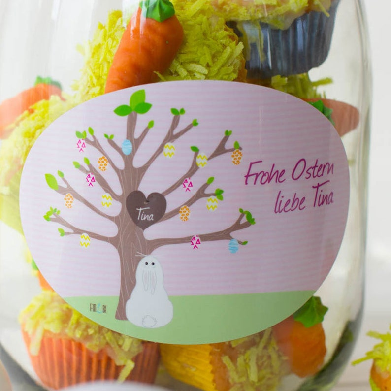 Storage glasses for Easter with their own label image 0