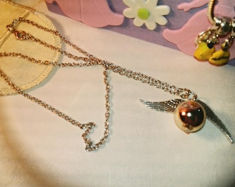 Silver Snitch Necklace