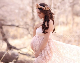 c26902d0a Tiffany Gown Lace Maternity Dress Maternity Gown Maxi