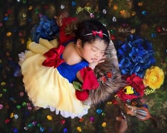1fff6b34d339a Snow Newborn Princess Dress • Snow White Newborn Dress • Dream Baby • Princess  Baby Dress • Sitter Princess Dress • Princess Newborn Gown