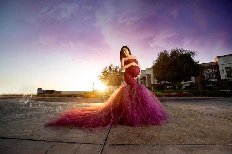 22cb7444cb7e Celine Gown Mermaid Style Maternity Gown Maternity Tutu | Etsy
