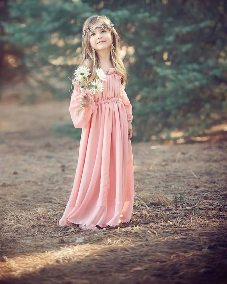358b6c6220d Cadence Gown Girls Vintage Style Dress Girls Renaissance