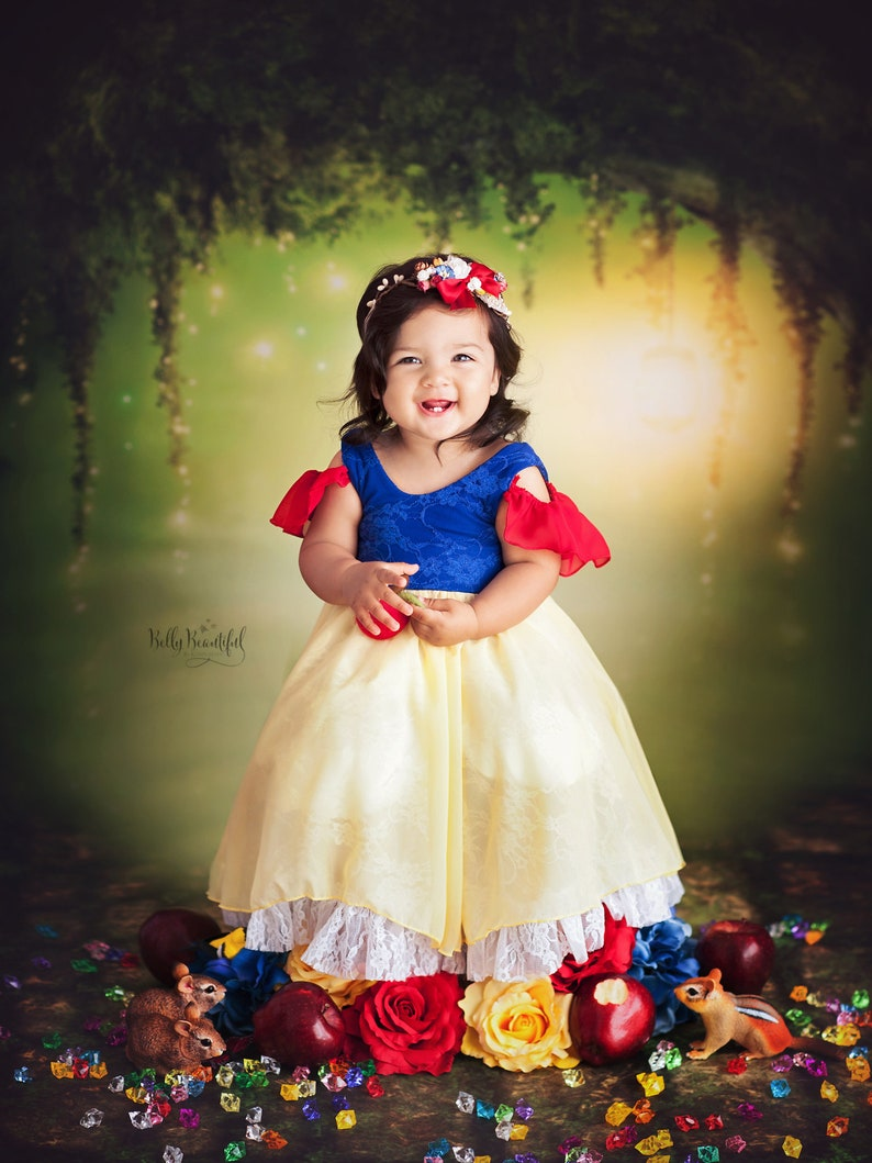 fdf13bdb4 Snow Toddler Princess Dress • Snow White Toddler Dress • Dream Baby •  Princess Baby Dress • Sitter Princess Dress • Princess Newborn Gown