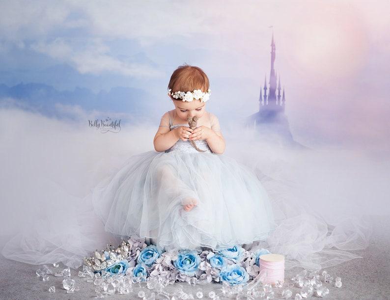 c4717acd3 Ella Toddler Princess Dress • Cinderella Newborn Dress • Dream Baby •  Princess Baby Dress • Sitter Princess Dress • Princess Newborn Gown