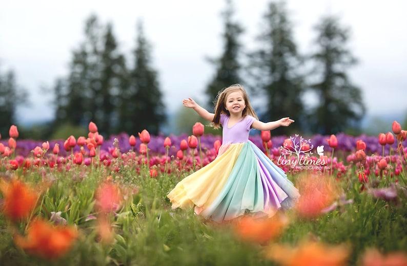 609701cbcc1 Evangeline Gown Pastel Rainbow Baby Line Rainbow Girls