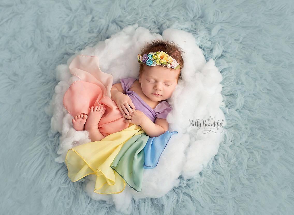 2e700b47b Destiny Toddler Gown  pastel tones  • Rainbow Toddler Gown • Rainbow  Toddler • Hope Toddler Gown • by Sew Trendy