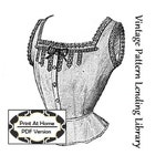 1912 Ladies Corset Cover With Lace Insertion - INSTANT DOWNLOAD - Reproduction Sewing Pattern #E0176 - PDF - Print At Home