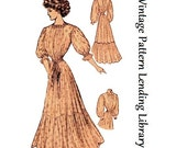 1908 Ladies House Dress or Wrapper - Reproduction Sewing Pattern E2263