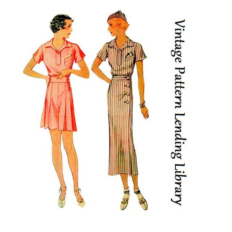 1930s Ladies Sports Ensemble  Reproduction 1933-34 Sewing image 0