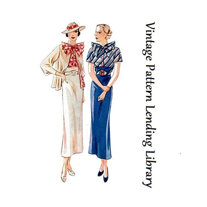 1930s Ladies Day Suit  Reproduction 1935 Sewing Pattern image 0