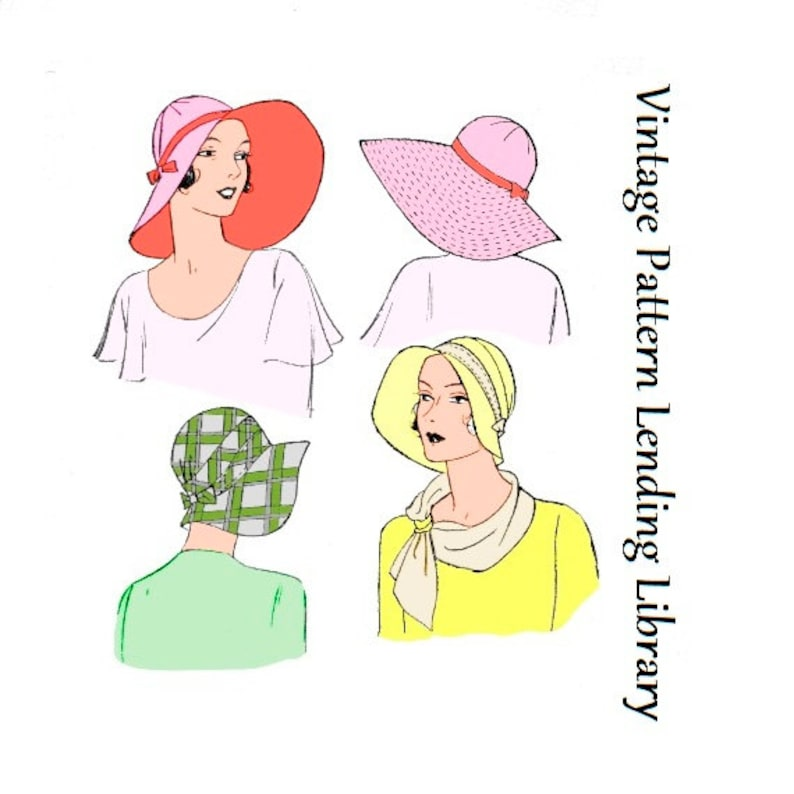 1930s Ladies Brimmed Cloche Hat  Reproduction 1931 Sewing image 0