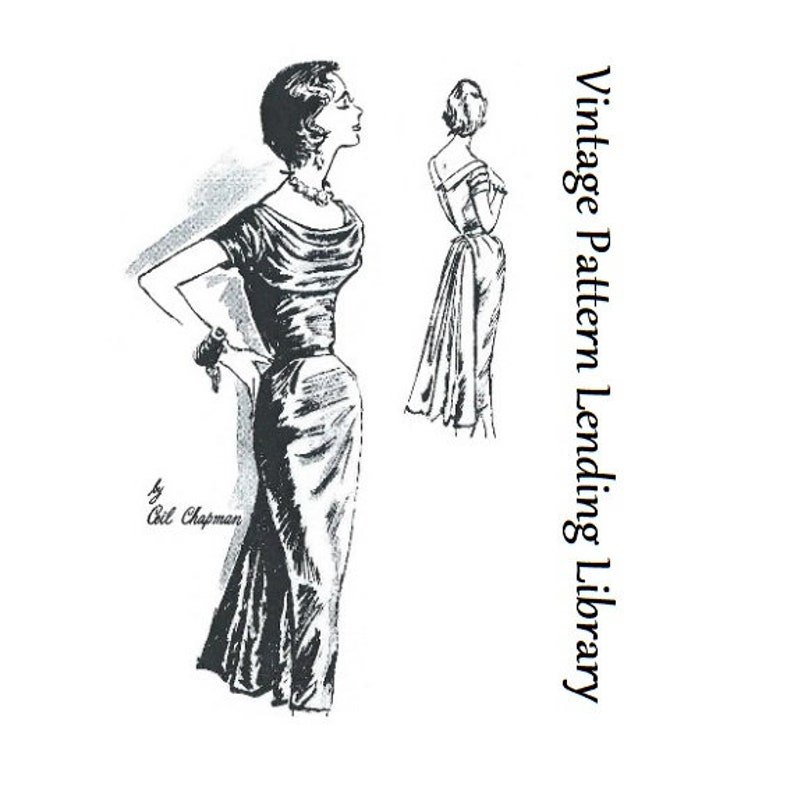 1950s Ladies Ceil Chapman Formal Dress  Reproduction 1958 image 0
