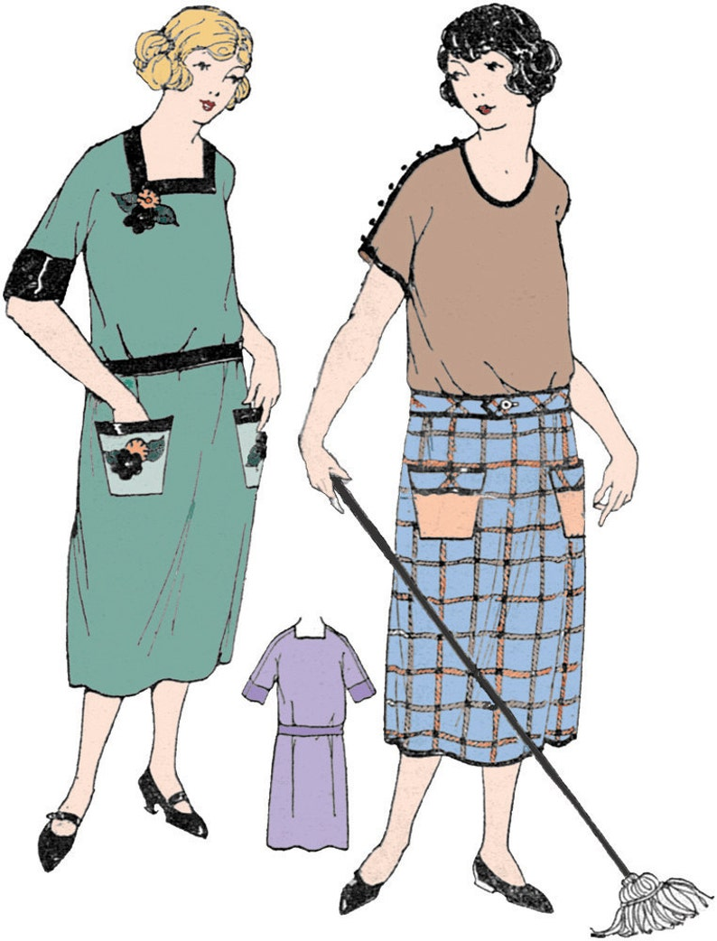 1920s Patterns – Vintage, Reproduction Sewing Patterns 1920s Ladies Economy House Dress - Reproduction Sewing Pattern #Z0101 $16.00 AT vintagedancer.com