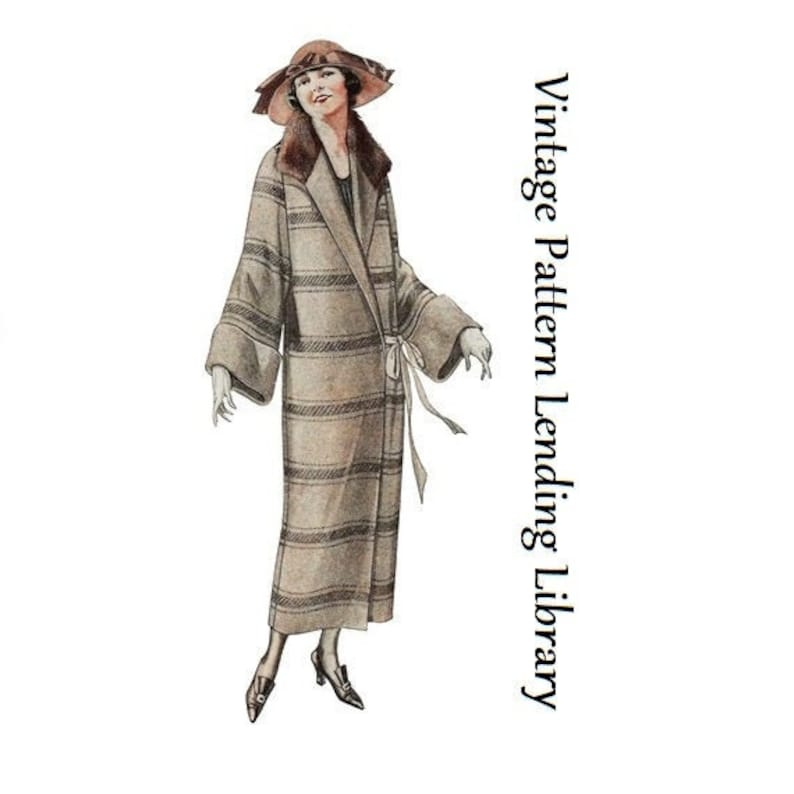 1920s Ladies Coat With Large Sleeves  Reproduction 1923 image 0