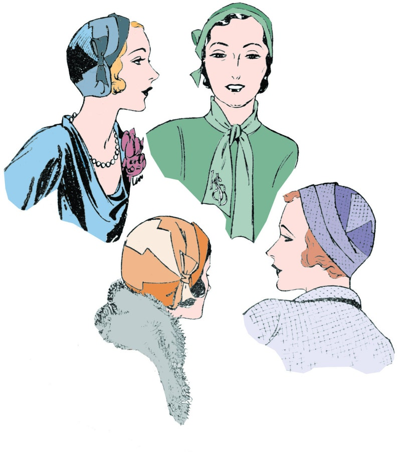 1920s Style Hats 1920s 1930s Ladies Paris Cloche Hat - Reproduction 1929-30 Sewing Pattern #H002 $11.00 AT vintagedancer.com