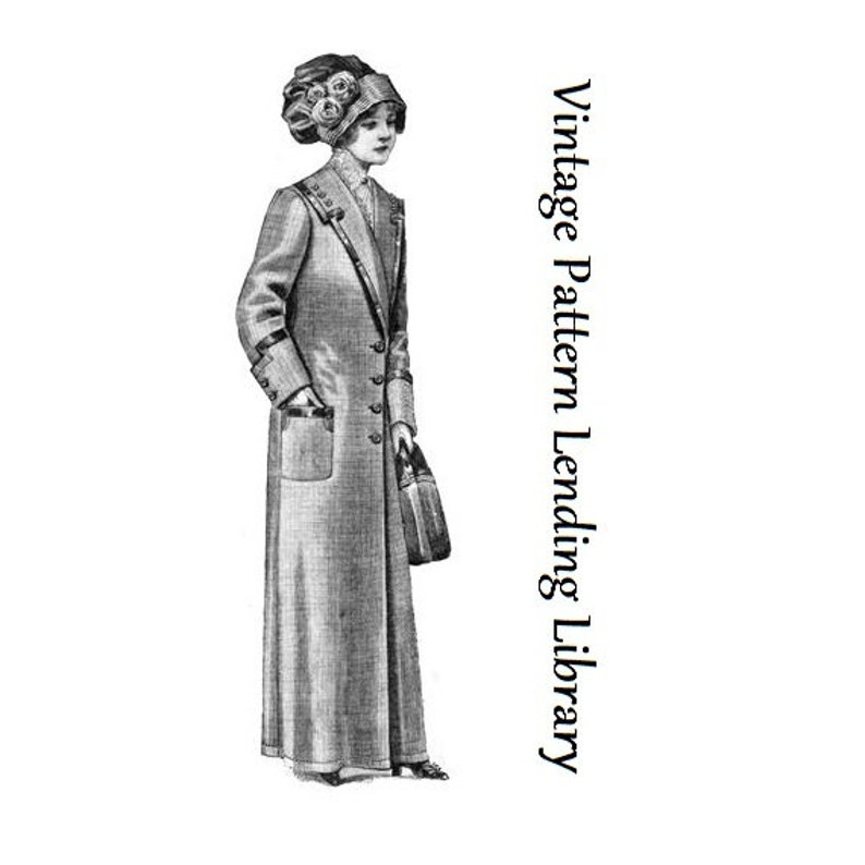 1912 Ladies Duster Coat  Reproduction Sewing Pattern E0402  image 0