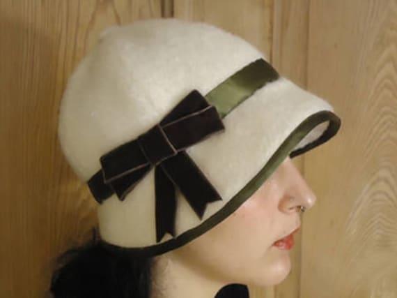 1924 Damen Cloche Hut mit Band-Ordnungs Reproduktion | Etsy