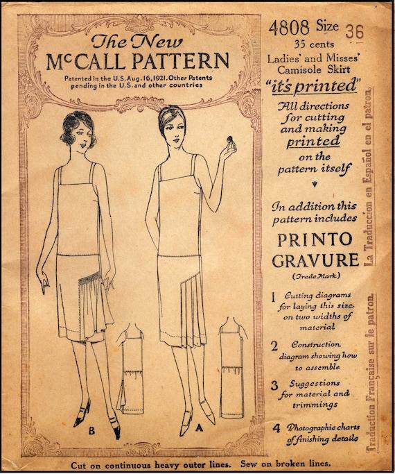 1927-Damen-Unterhemd mit befestigt Rock Reproduktion | Etsy
