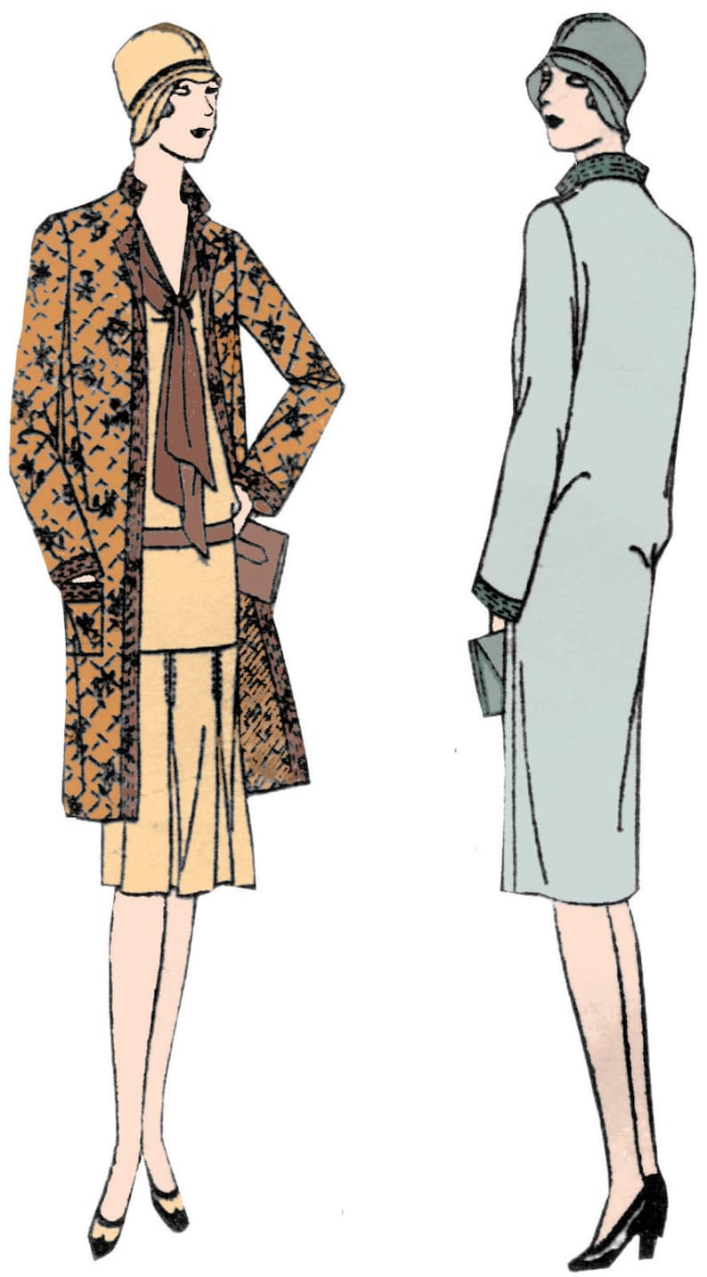1920s Patterns – Vintage, Reproduction Sewing Patterns 1929 Ladies Straight-Line Coat - Reproduction Sewing Pattern #Z2545 $17.00 AT vintagedancer.com