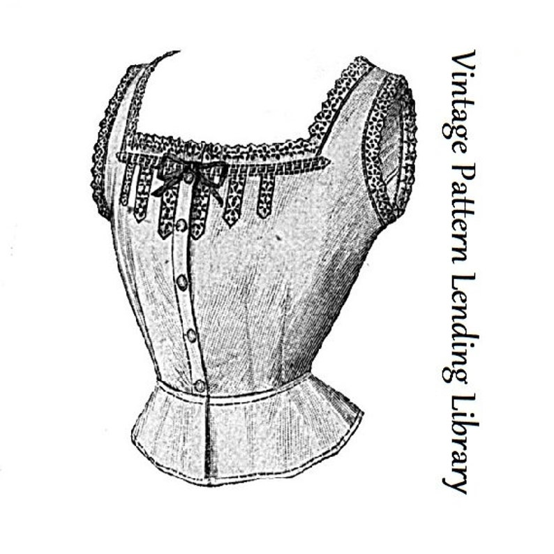 1912 Ladies Corset Cover With Lace Insertion  Reproduction image 0