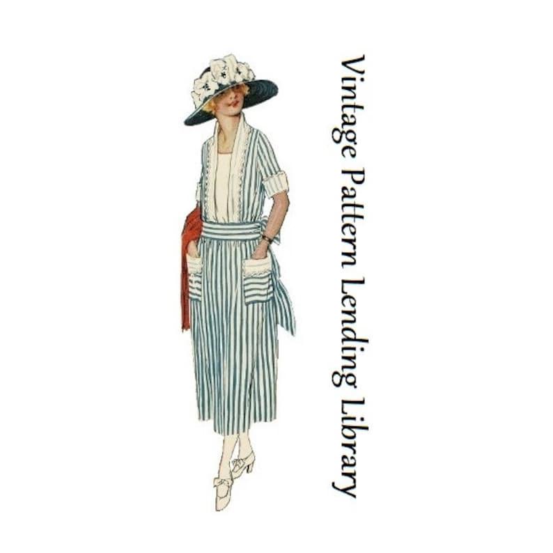 1920s Patterns – Vintage, Reproduction Sewing Patterns 1920s Ladies Dress With Sash - Reproduction 1921 Sewing Pattern #Z3074 - 38 Inch Bust $22.00 AT vintagedancer.com