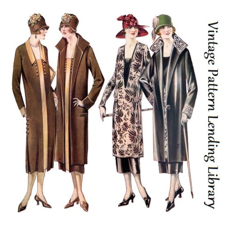 1920s Ladies Coat and Dress Ensemble  Reproduction 1925 image 0