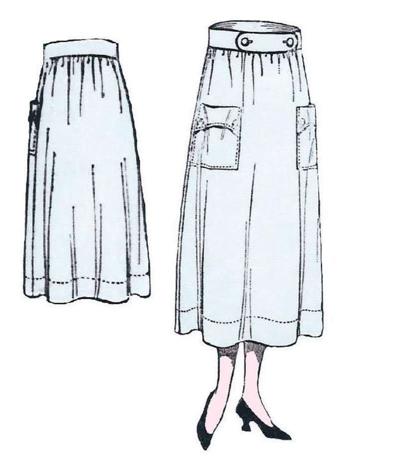 1920s Patterns – Vintage, Reproduction Sewing Patterns 1918 Ladies Two Piece Skirt - Reproduction Sewing Pattern #E0129 $14.00 AT vintagedancer.com