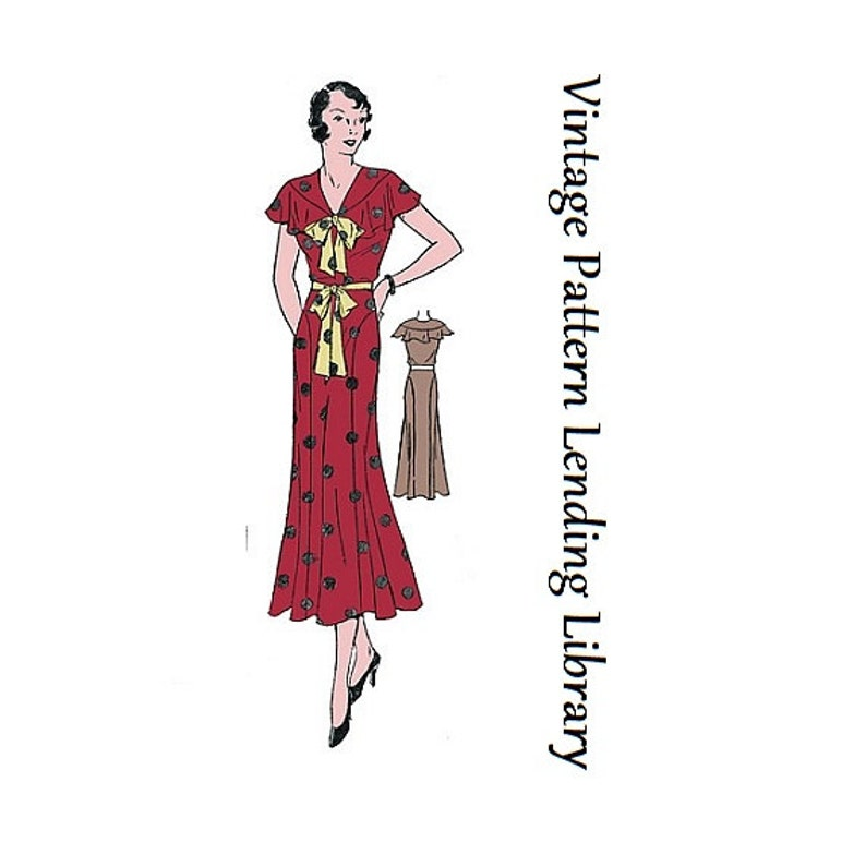 1930s Ladies Sleeveless Day Dress  Reproduction Sewing image 0