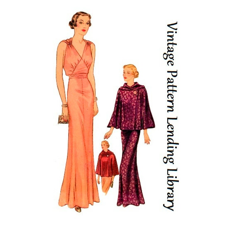 1930s Ladies Evening Gown With Optional Jacket  Reproduction image 0