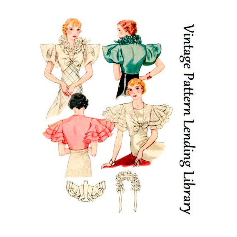 1930s Ladies Evening Coatee  Reproduction 1933 Sewing Pattern image 0