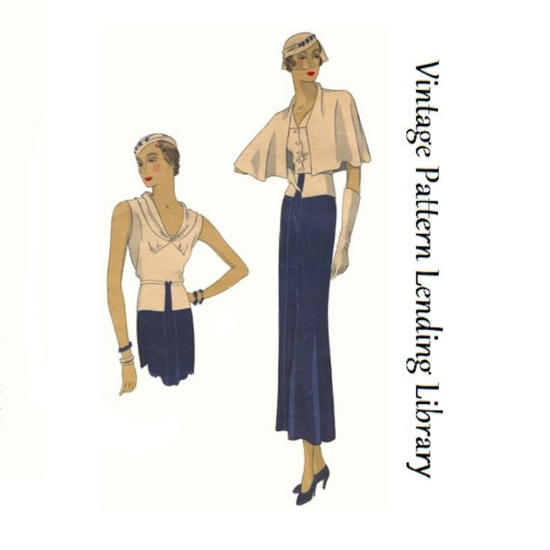 1930s Ladies Three Piece Ensemble  Reproduction 1933 Sewing image 0