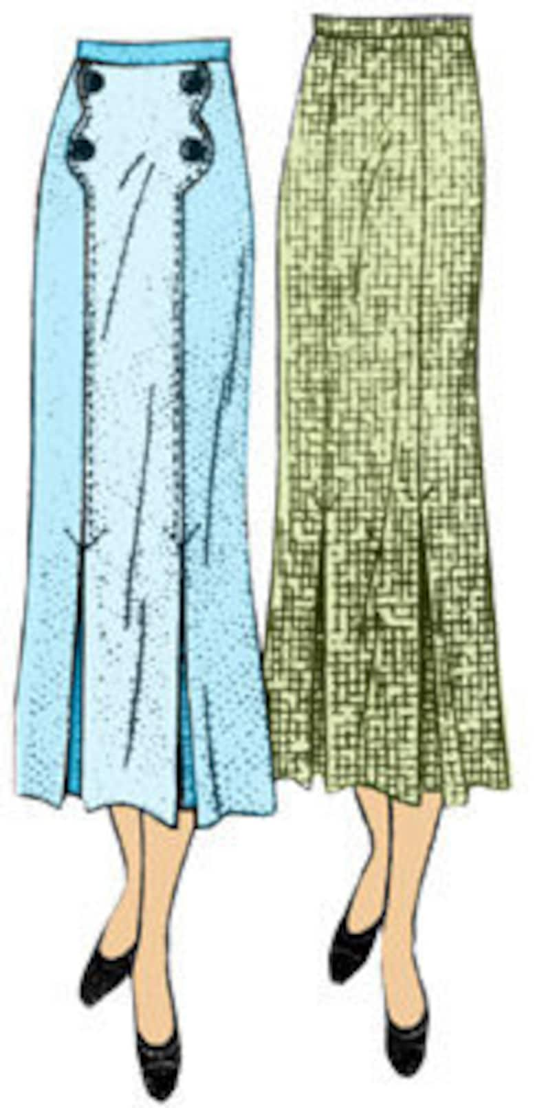 1930s Sewing Patterns- Dresses, Pants, Tops 1930s Ladies Skirt With Patch Pockets - INSTANT DOWNLOAD - Reproduction 1936 Sewing Pattern #T1047 - 30 Inch Waist - PDF - Print At Home $9.00 AT vintagedancer.com
