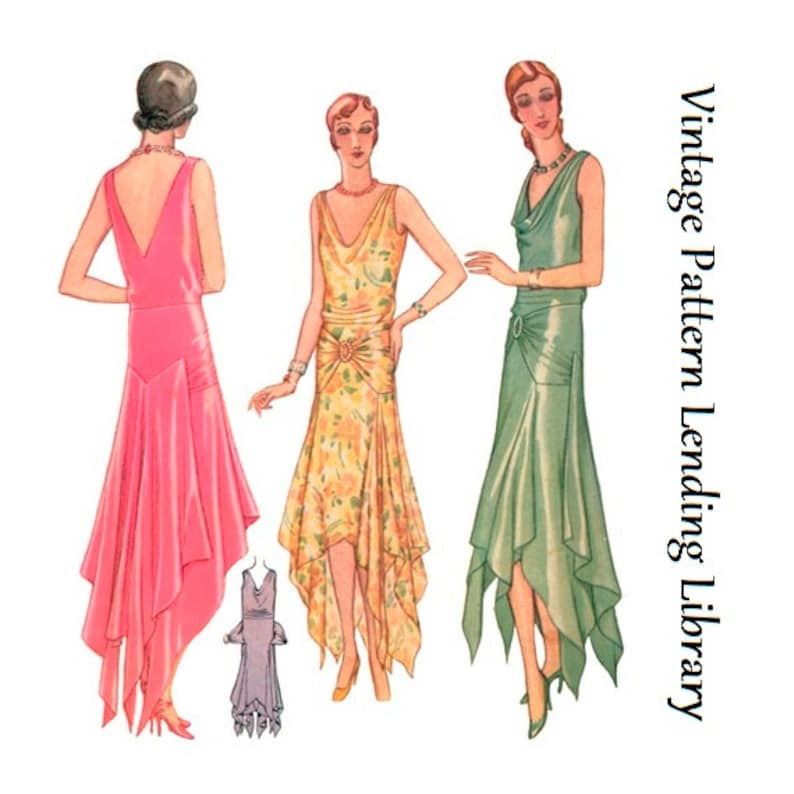 1920s Ladies Fishtail Evening Gown  Reproduction 1929 Sewing image 0