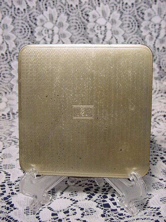 Vintage 1950's Zell Compact Incised Designed Inse… - image 3